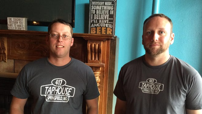 Zachery Campbell and Harry Crawford are the owners of 417 Taphouse, 431 S. Jefferson Ave. They're aiming to open Sept. 1, offering 26 craft brews, a self-service beer wall and a geek-friendly atmosphere.