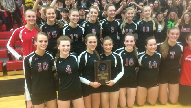 The Manitowoc Lutheran volleyball team defeated Roncalli Saturday to earn the Division 3 regional title after sweeping the visiting Jets.
