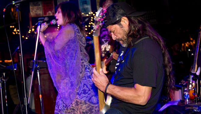 Nicole Atkins and Metallica's Robert Trujillo perform at the Stone Pony in Asbury Park as part of the 2015 Asbury Park Music in Film Festival.