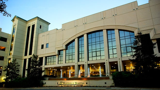 Huntsville Hospital Main Facade in Huntsville, Ala.  HANDOUT CREDIT: Courtesy of Huntsville Hospital Health System. Thanks. ORG XMIT: Nikon D1x - Firmware version 5.0 [Via MerlinFTP Drop]