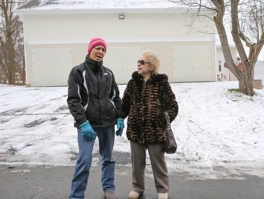 Chestnut Ridge residents, Hilda Kogut, left, and Carole
