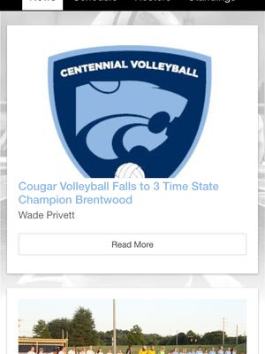 A screen shot of Williamson County Schools' newest sports app.