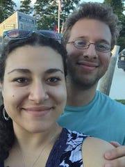 Jayda Leder-Luis, 25, with her fiance Charlie Siegler,
