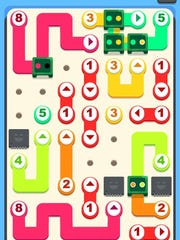 """Fans of puzzlers like """"Flow Free"""" or """"Dots"""" will immediately understand the gameplay mechanics of """"Little Broken Robots."""" Your goal is to rewire cute little machines by tracing out a path with your fingertip."""
