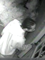 Jackson police are looking for two men accused of stealing a television from a Fairfield Place home on April 20.
