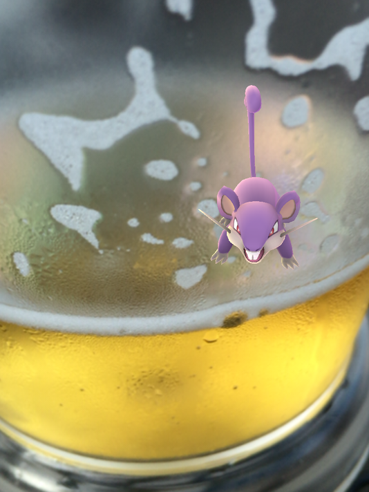 Pokemon in a beer