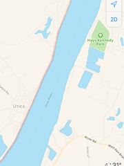The Lewis and Clark Bridge had not been added to Apple Maps as of Dec. 23.