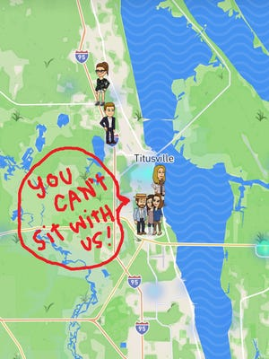 You can't sit with us! The new Snap map feature let's you see where your Snapchat friends are located... and it's really obvious if you have a party and don't invite someone. It's mildly creepy.
