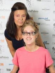 Ashley Bugg and Glenda Turner pose for a photo at Boundless,