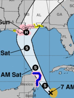 Escambia and Santa Rosa counties are under a Tropical Storm Watch.