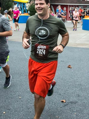 Foot Notes columnist Andy Sandrik overcame a harsh stomach bug to finish last weekend's Hershey Half Marathon in 2:16:44.