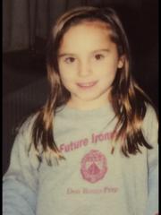 """Caitlin Roche in her """"Future Ironman"""" sweatshirt."""