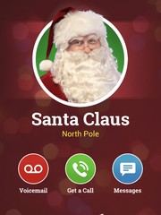 Your smart phone's app store will have a variety of different apps for you to communicate with Santa.