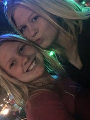 Layne Chesney (left) with her sister Lauryn Chesney,