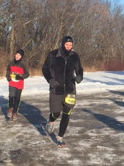 Greg Borowski completes the Run Into the New Year 5K