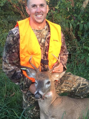 Successful hunter, Anthony Frederick, Fredericksburg PA, harvested this nice buck in the controlled area during the 2017 special permit-only archery hunt.