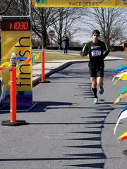 Carlisle's Ryan Blood, the 2016 Chambersburg Half Marathon