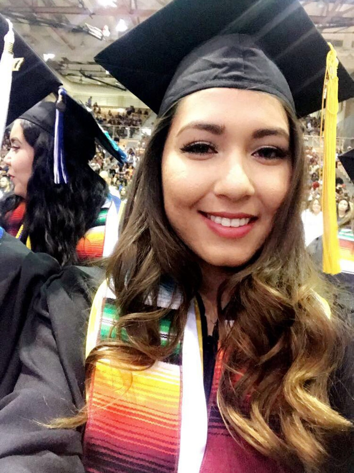 Scarlett is seen here during her graduation.