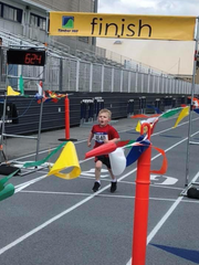 Mont Alto's Jayce Hein competes in the EdK 1K race