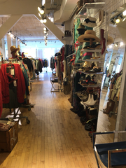 Inside The Vault Collective, a vintage clothing store on Cherry Street in Burlington.