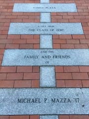 The Michael P. Mazza Family Plaza at Mount Ida College.