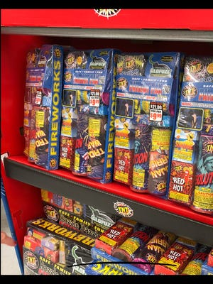 Fireworks on display at Acme on Concord Pike in Fairfax.