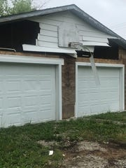 Steve Lazzuri took this photo of the garage at the