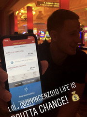 Donte DiVincenzo's bank is low.