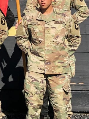 John Guzman, a 2015 graduate of Alice High School, enlisted in the United States Army as a fire support specialist (13F).