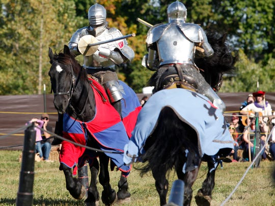 The Knights of Valour Joust Troupe thilled the crowd