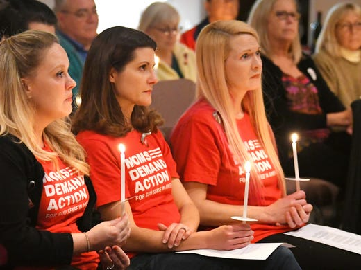 A candlelight vigil organized by the Brevard chapter