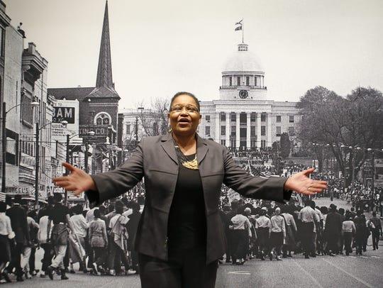 Lynda Blackmon Lowery speaks at the New York Historical