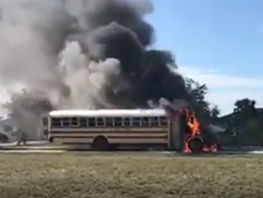 CCFD School Bus Fire Photo