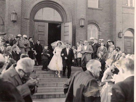 Alexander and Jane Romanow on their wedding day.