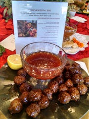 Bourbon meatballs are another tasty option for diners