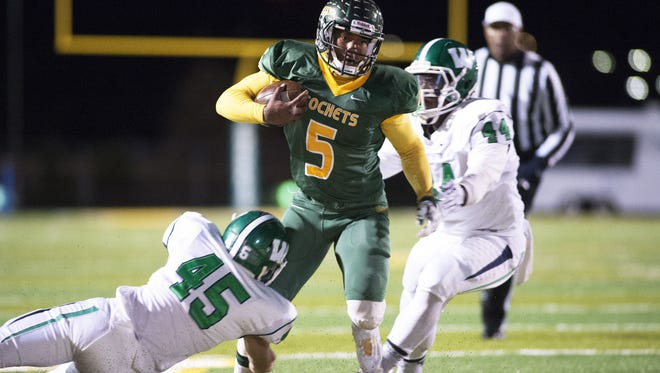 Reynolds alum Rico Dowdle (5) was the 2015 Citizen-Times All-WNC Football Player of the Year.