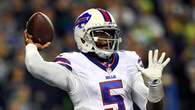 In his last game, Tyrod Taylor completed a season-high 71% of his passes vs. Seattle in Week 9. He's also rushed for a touchdown in three consecutive games.