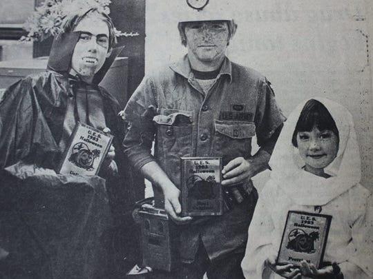 The winners of the 1983 Uniontown Public School's Halloween