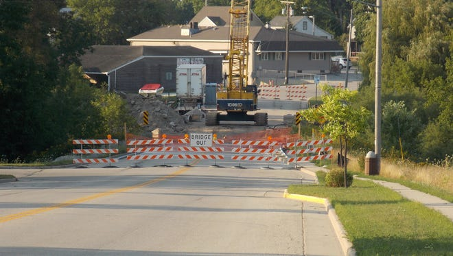 Traffic continues to be detoured around the construction work on County Highway B — south State Street — in Mishicot. The road closure will affect this year's Pumpkinfest celebration, requiring cancellation of the parade.