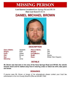 The body of Daniel Brown was found Sunday. Brown had been missing for more than two months.