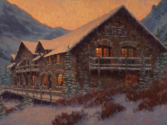 Early Snow at Sperry Chalet painting by Charles Fritz
