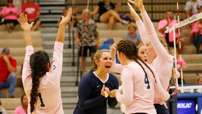 Central Catholic enters Saturday's state championship having won 20 straight sets, including all 15 it has played in the state tournament.