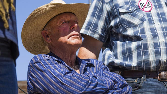 Cliven Bundy, seen in this 2014 photo, is on trial in connection with a 2014 armed standoff against the Bureau of Land Management. The trial was to begin in Las Vegas on Tuesday, Nov. 7, 2017, but was delayed until Nov. 14, 2017.