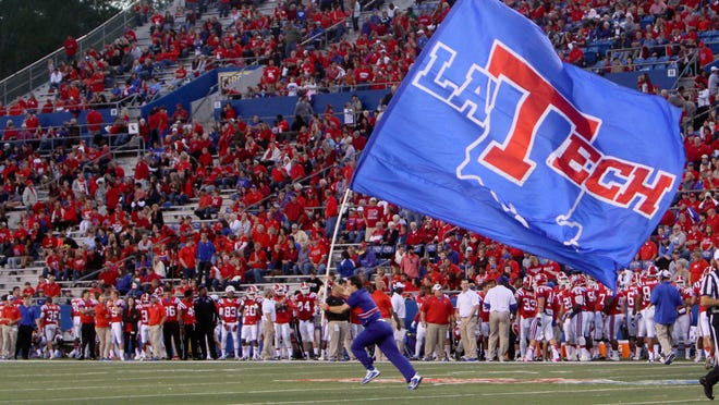 The Louisiana Tech Bulldogs play the University of Texas at El Paso Miners Saturday at the Joe Aillet Stadium in Ruston, La.