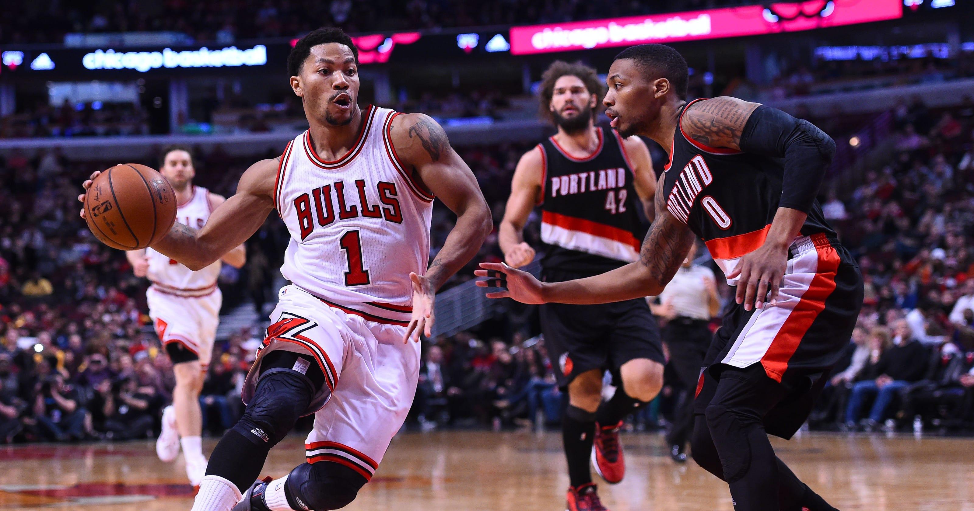 Derrick Rose Scores 31 To Lead Bulls Past Blazers