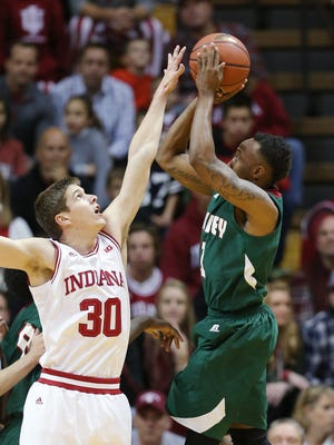 Collin Hartman (30), returned quickly from an ACL tear, has become a quietly important player for Indiana this season.
