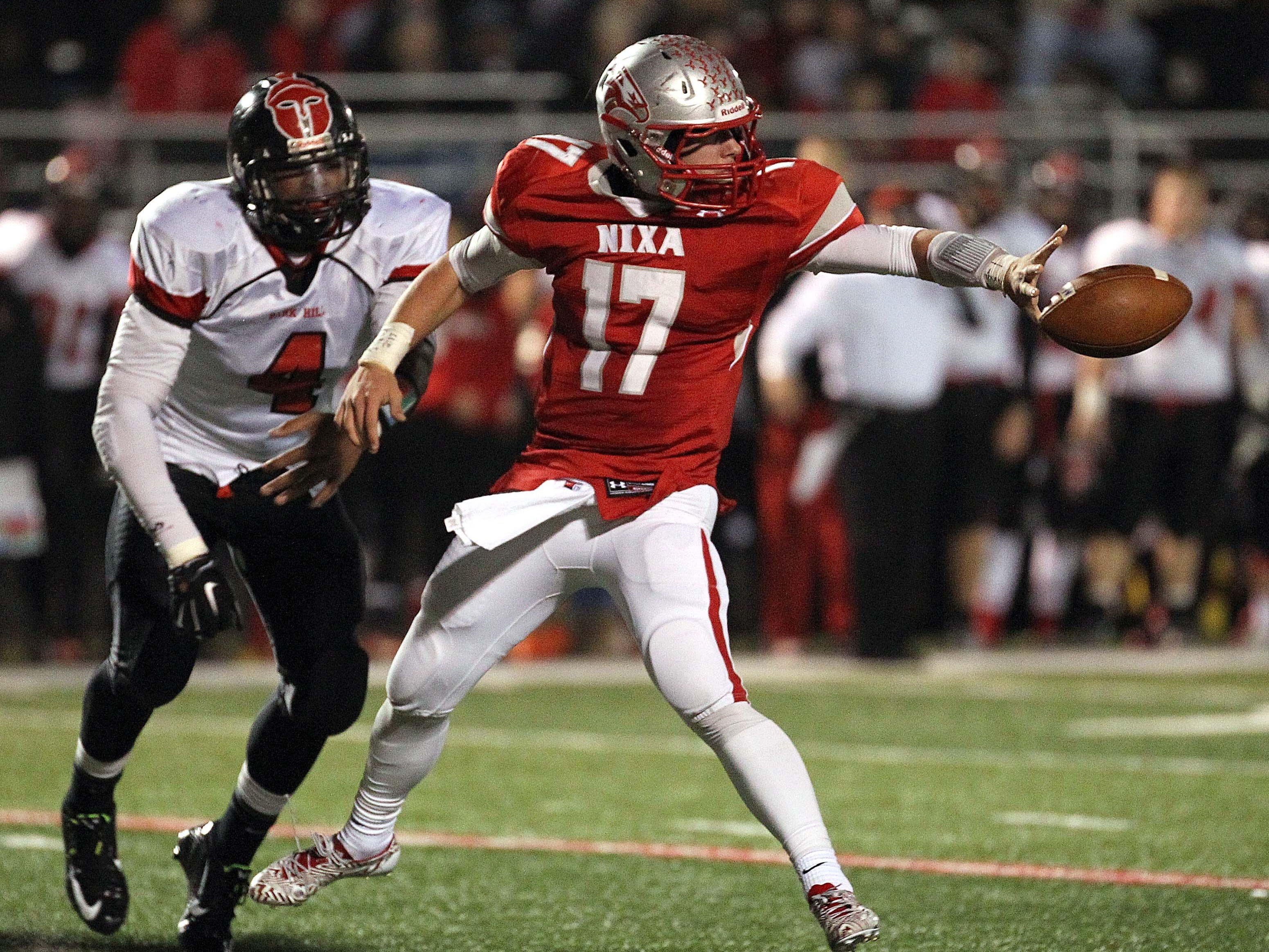 Nixa's Logan Tyler verbally committed to Florida State as a placekicker, but has one season as a high school quarterback and strong safety ahead in 2015.