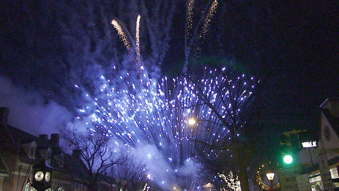 First Night fireworks in Haddonfield.