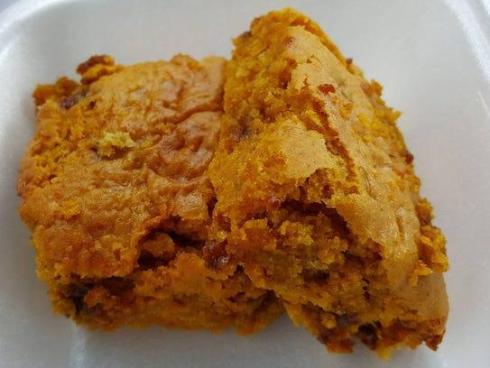 Pumpkin Bars ($1.50 per bar) at Butler Baking Co.