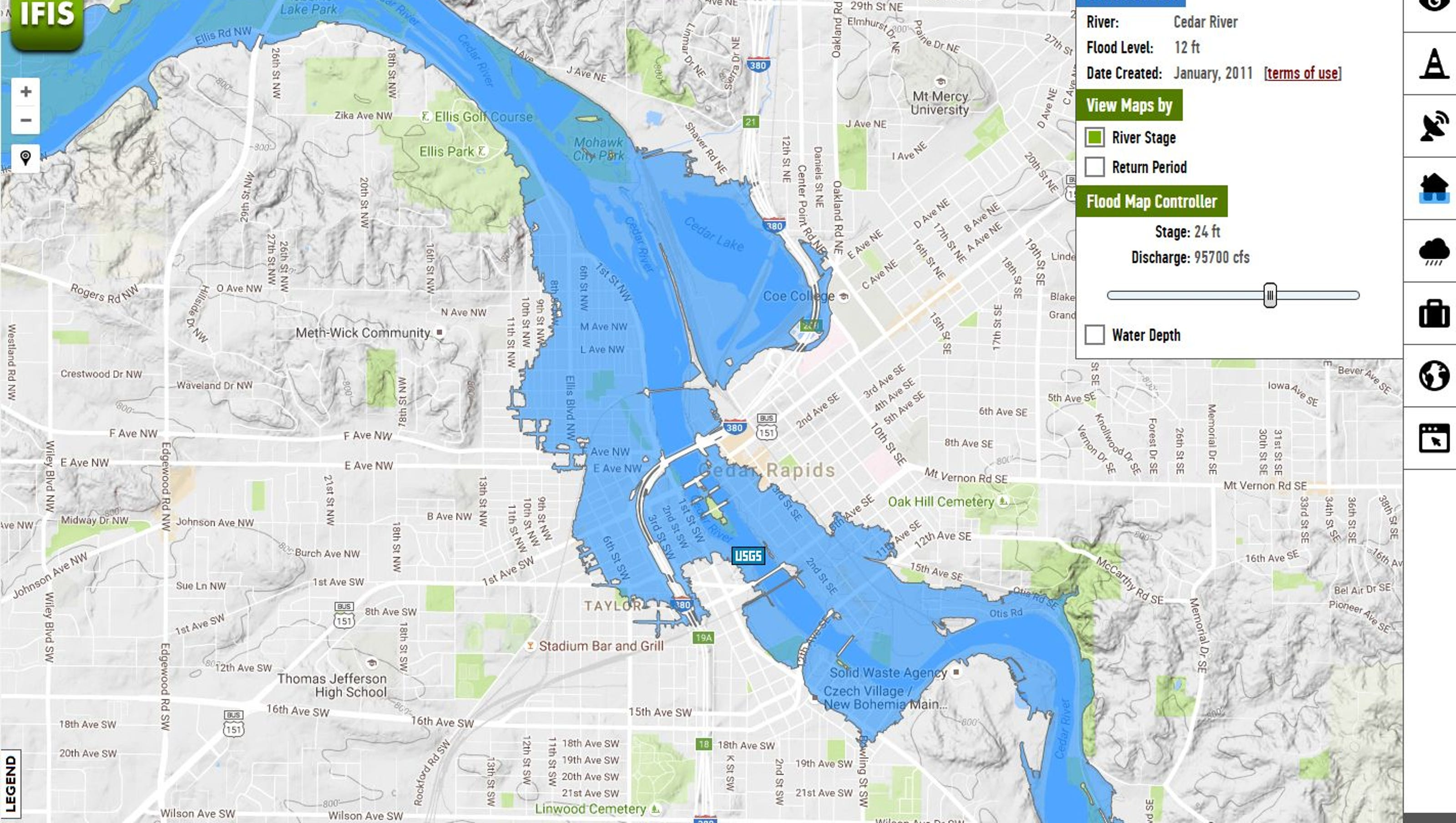 Delivery Cedar Rapids >> Online maps let Iowans see their risk of flooding